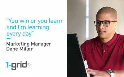 Marketing Manager, Dane Miller talks about working at 1-grid