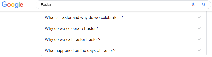 2020 Easter questions